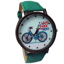 New Design Scorching Trend Unisex Watches Informal Trend Jean Strap Bicycle Watches girls watches supper enjoyable