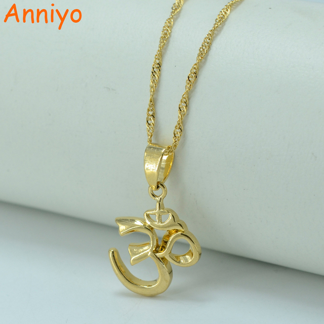 Anniyo small yoga charm necklace pendant for women girlindian anniyo small yoga charm necklace pendant for women girlindian hindoo ohm hindu buddhist aum aloadofball Choice Image