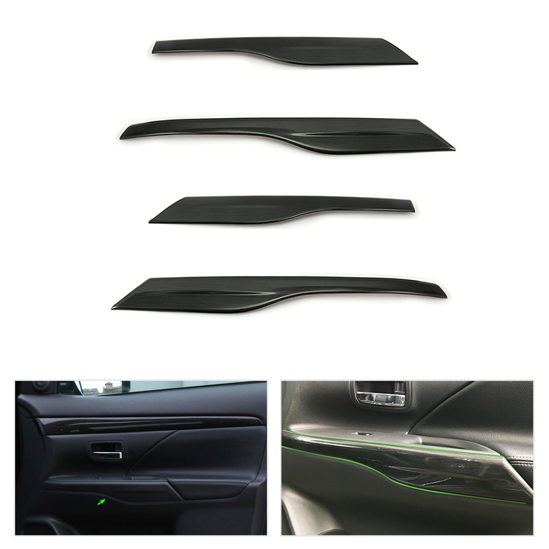 4pcs Car Styling <font><b>Door</b></font> <font><b>Handle</b></font> Panels Armrest Covers Protective Trim for <font><b>Mitsubishi</b></font> Outlander 2013 2014 2015 2016 2017 2018 image