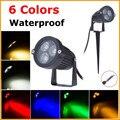 220V 110V LED Lawn Lamp Light Waterproof 9W Outdoor Garden Lighting Green Yellow Red Blue White 3W 9W LED Spike Light For Garden