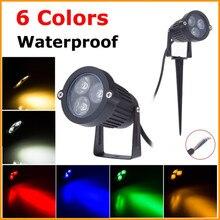 Best Waterproof LED Lawn Lamp for Garden Light 220V 110V 12V Outdoor Lanscape Lighting 3W 9W Warm White Green LED Spike Lights
