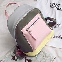 Модная обувь из искусственной кожи Рюкзаки сумка со вставками в Корейском стиле сумка пакет женский Рюкзаки для школы для девочек-подростков Для женщин Дорожная сумка
