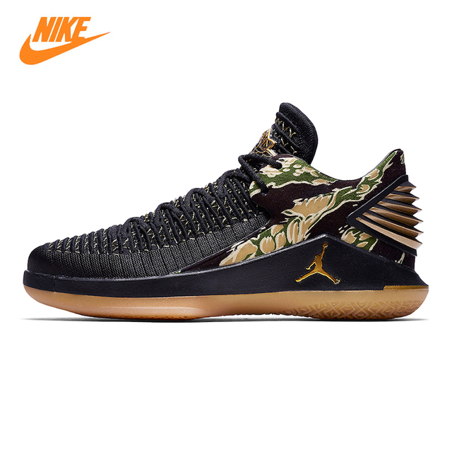 Nike Air Jordan XXX2 Low Tiger Camo Mens Basketball Shoes, Black, Shock  Absorption Breathable