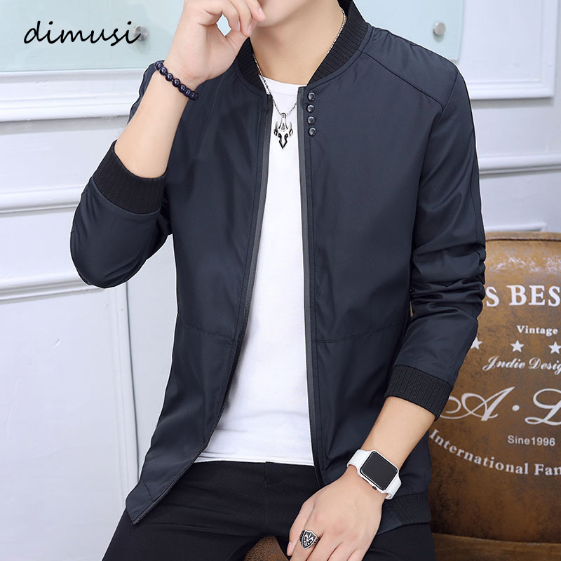 DIMUSI Men's Casual Jackets Spring Winter Coat Men Sportswear Motorcycle Male Thin Slim Fit Bomber Jackets Brand Clothing,TA119