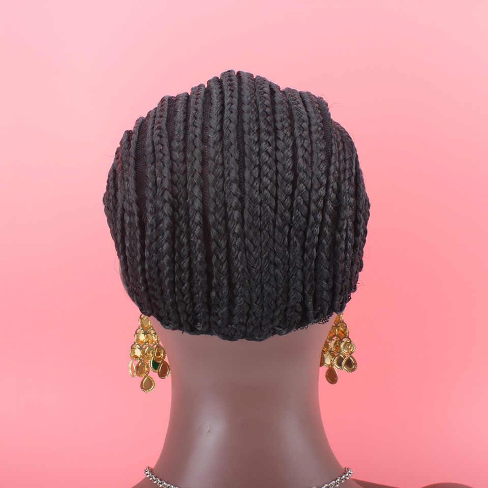 1 шт. шапка в виде афрокос для более легкого изготовления парика меньше стресса на волосы Плетеный парик шапки 3 стиля s m l на выбор гарантия высокого качества