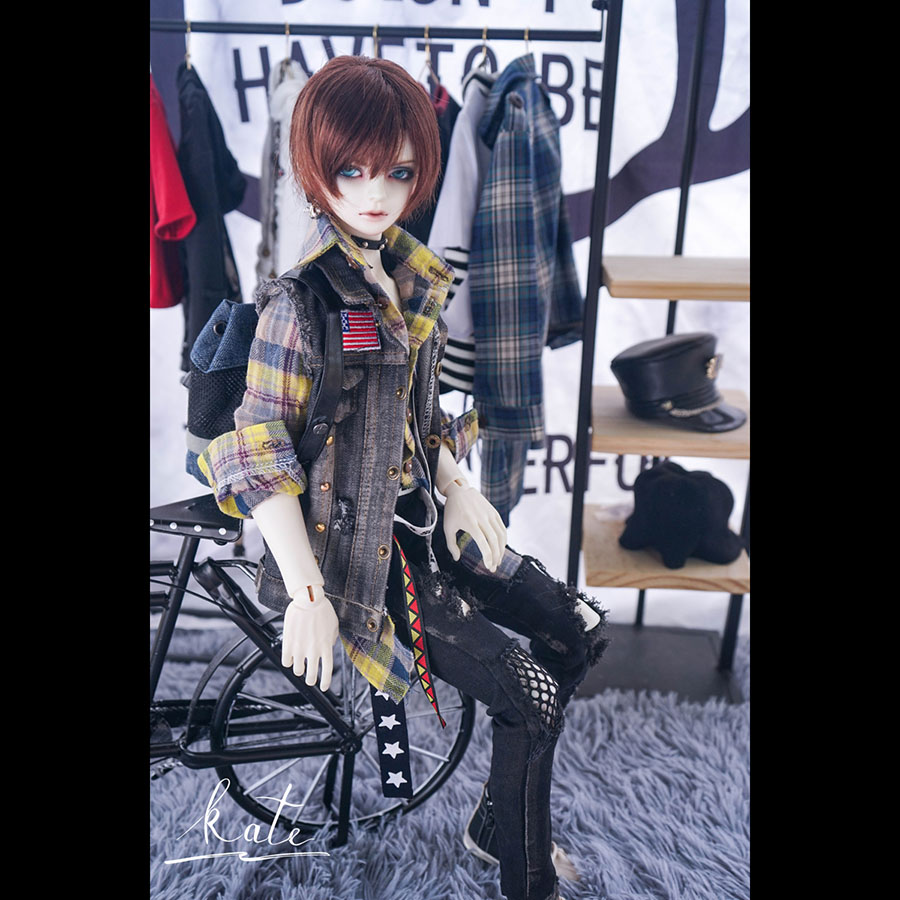 BYBJDHOME December new doll use Custom size Limited production BJD SD Doll Clothes set cowboy a