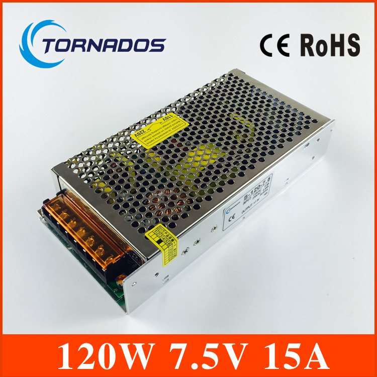 120W 7.5V 15A Single Output Switching power supply for LED Strip light AC to DC ac 85v 265v to 20 38v 600ma power supply driver adapter for led light lamp