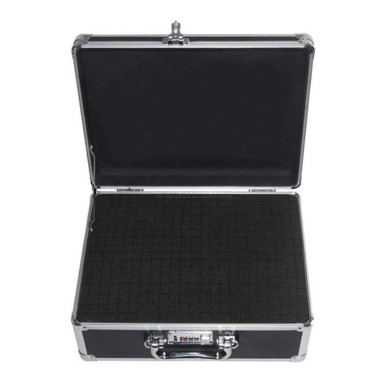 Aluminium Alat Koper Box File Impact Resistant Safety Case TOOLBOX Peralatan Instrumen Case dengan Memotong Busa