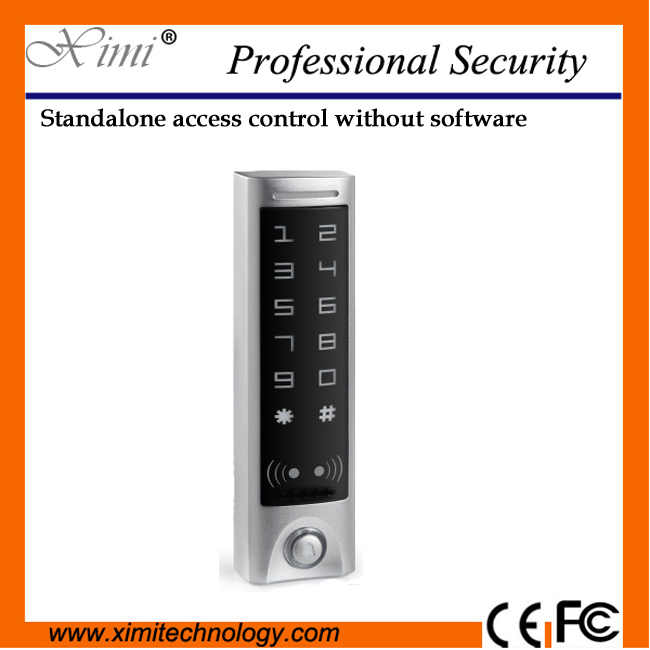 Hot sale IP65 waterproof smart card access control with touch keypad M08T 125khz RFID card reader original access control card reader without keypad smart card reader 125khz rfid card reader door access reader manufacture