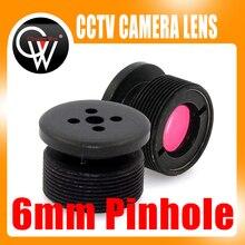 CCTV 6mm lens IR Filter Metal Button effect Board lens For CCTV Security Camera