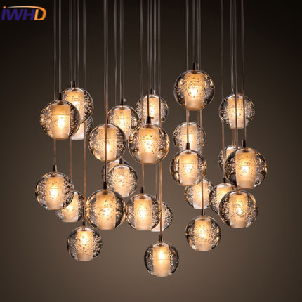 IWHD Glass Led Pendant Lights Modern Fashion Crystal HangLamp Home Lighting Fixtures Luminaire Pendant Light  Lustre LuminaireIWHD Glass Led Pendant Lights Modern Fashion Crystal HangLamp Home Lighting Fixtures Luminaire Pendant Light  Lustre Luminaire