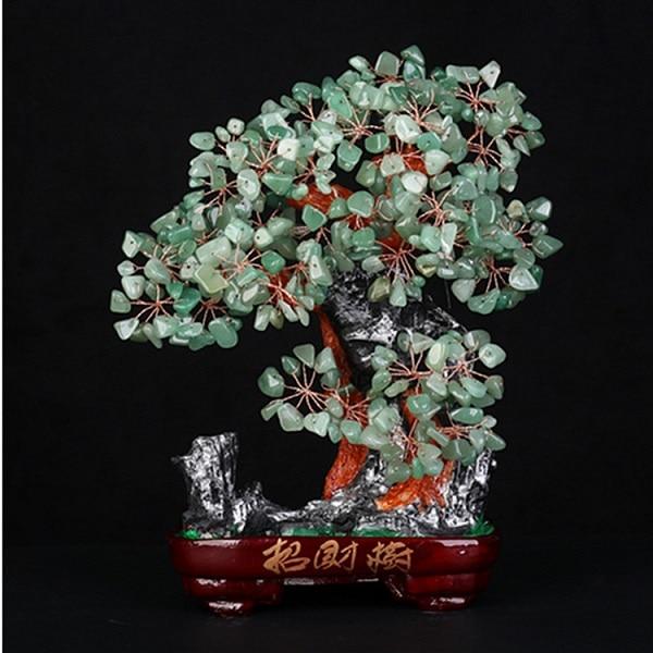 260-280mm naturel naturel don jade cristal quartz pierre gemme arbre REIKI guérison