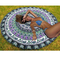 New Fashion Indian Mandala Round Tapestry Wall Hanging Summer Beach Throw Towel Hippie Blanket Yoga Mat Art Boho Decor 150cm