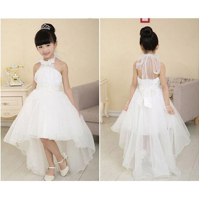Kids Flower Girl Dress Princess Pageant Party Bridesmaid Wedding Tutu Dresses US