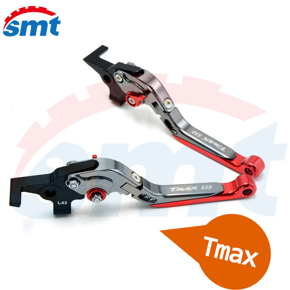 New Motorcycle Accessories CNC Folding&Extending Brake Clutch Levers Red FOR YAMAHA TMAX 530 TMAX530 T-MAX530 T-MAX 530 2008 for yamaha tmax tmax530 t max t max530 530 xp530 red blue new style blue logo motorcycle adjustable short brake clutch levers
