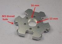 Reprap Delta kossel mini k800 fisheye effector for DIY 3d printer all metal structure effector aluminum alloy