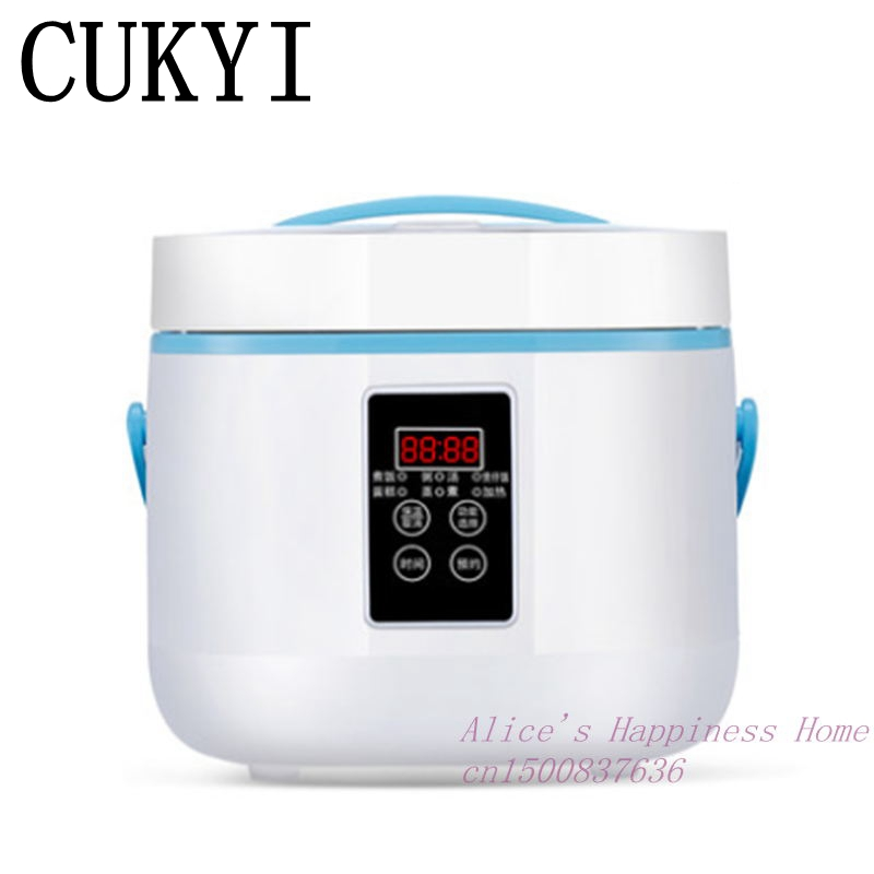CUKYI Intelligent electric rice cooker 3 l household automatic mini rice cooker 2-5 Heat Preservation Cake Rice Cooking mini electric pressure cooker intelligent timing pressure cooker reservation rice cooker travel stew pot 2l 110v 220v eu us plug