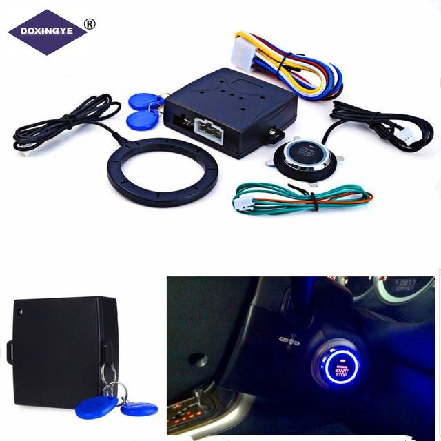 Sistema de Segurança Do Carro DOXINGYE Impulso Motor Do Carro Botão de Arranque Inteligente RFID Empurrar Bloqueio Do Motor de Ignição De Partida Sem Chave