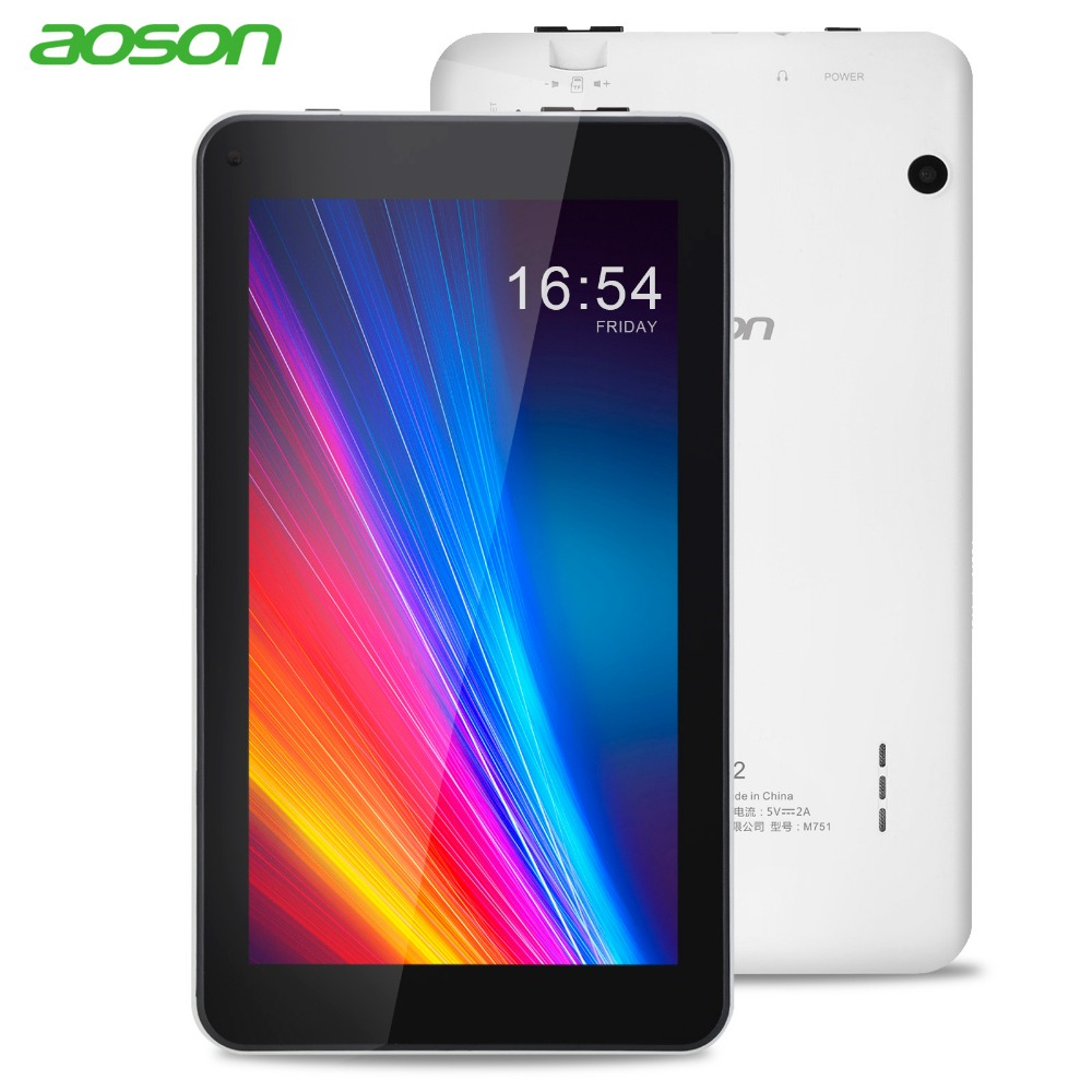 7 inch Tablet PC Aoson M751 8GB 1GB 1024*600 Android 5.1 Quad Core Dual Cameras Bluetooth Wifi Multi languages Tablets Promotion