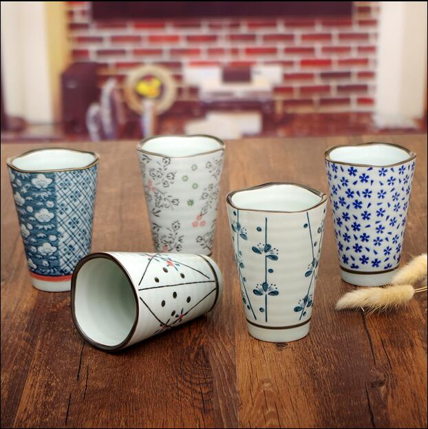 Drinkware 100ml Five sets of coffee milk mugs gift set Japanese style suit and wind retro ceramic mug