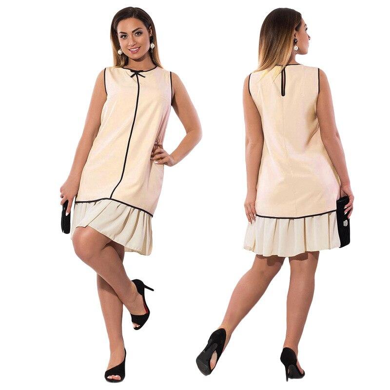 Fat MM Plus Size Dress Women Fashion Casual Sleeveless Summer Dresses  Female Big Size 6xl Party Jurken Vestidos Women Clothing-in Dresses from  Women s ... a3ab05abd458