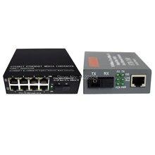 1 par 10/100 mbps conversor de mídia de fibra óptica 1 ch * sc 8 ch * rj45 netlink conversor 1 ch * sc 1 ch * rj45 transceptor de fibra óptica