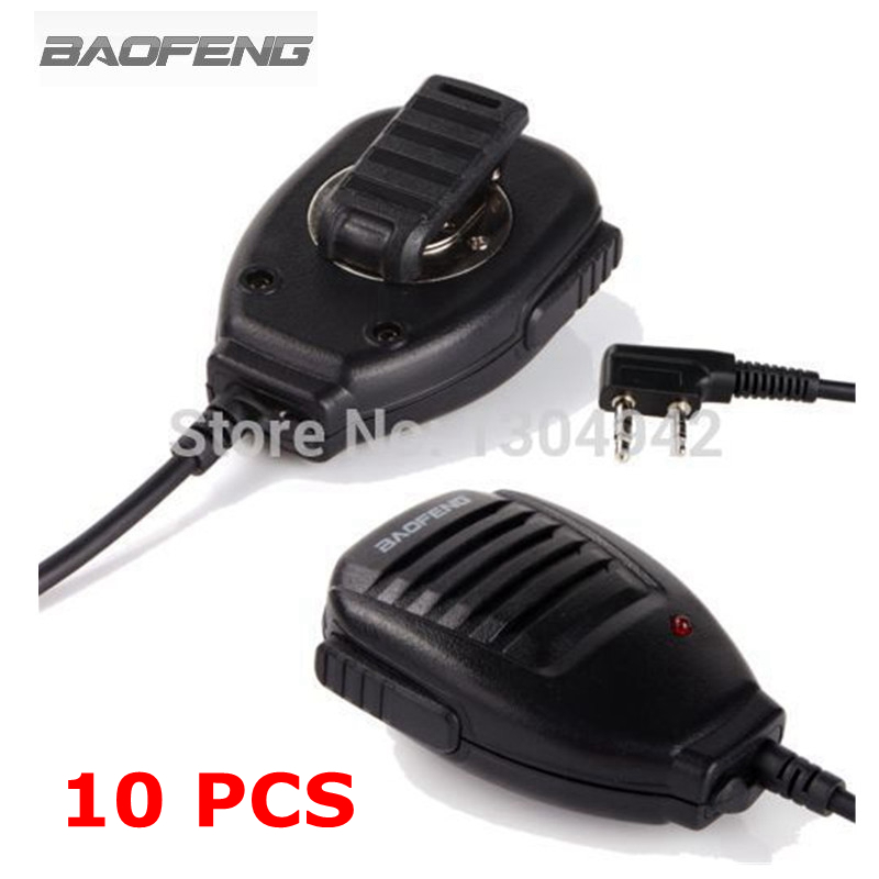 10 PCS Baofeng Microphone Speaker Mic For Two Way Radio Kenwood BAOFENG UV-5R 5RA 5RE Plus Walkie Talkie Portable Accessories