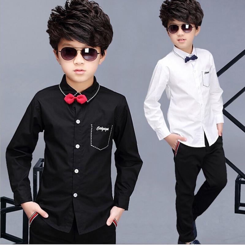 2016 kinderen jongen wit shirt lente kinderen tonen tops jongens - Kinderkleding