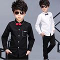 2016 children boy's white shirt spring kids show tops boys long sleeve casual shirt autumn for students cotton shirt clothing