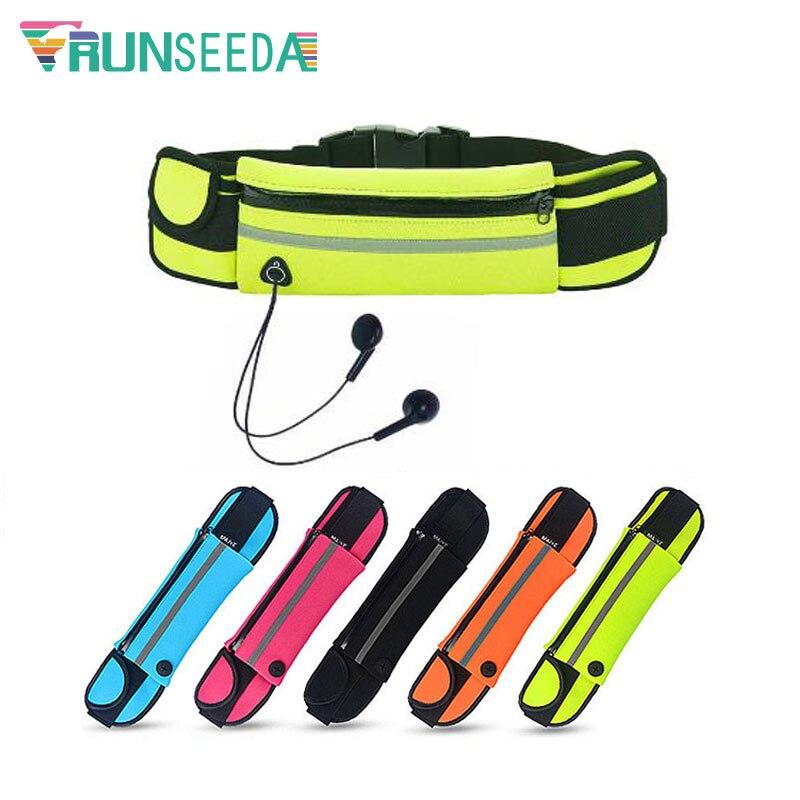Runseeda Outdoor Running Waist Bag Multi Warehouse Waterproof Jogging Belt Bag Women Gym Fitness Bag For Mobilephone Key Storage