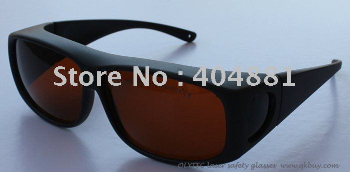 laser safety glasses 190-540nm & 800-2000nm, OLY-LSG-1, CE O.D 4+, 5+, High V.L.T % for 266,455, 532, 808, 980, 1064 .. ce ep 1a 190 540