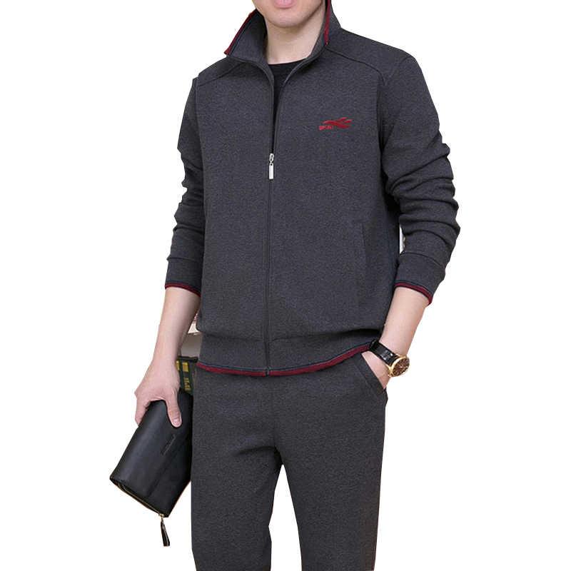 3 pcs Hoge kwaliteit Trainingspak Mannen Nieuwe Zweet Pak Trainingspak driedelige Sweatershirt Set Casual Mannen Sportkleding Sets Merk mode