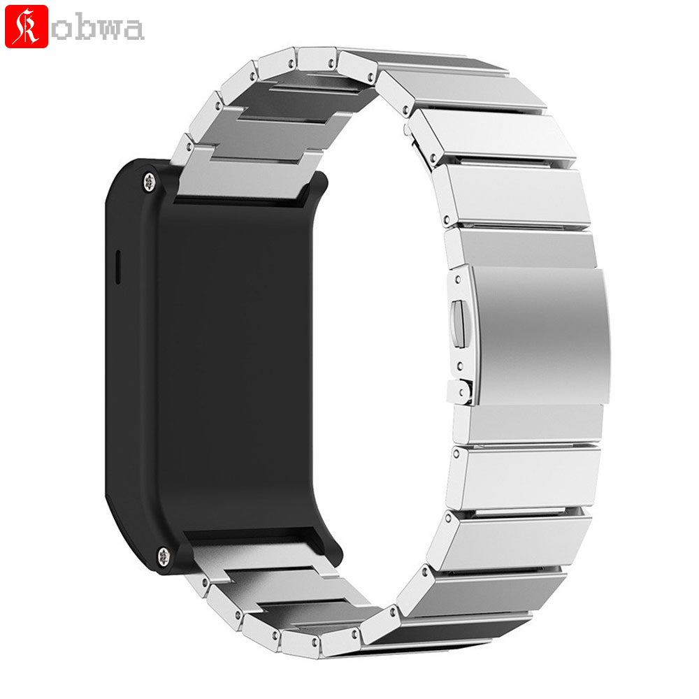 Metal Wristband Classic Buckle Fashion Stailess Steel Bracelet Strap Watch Band for Garm ...