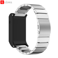 Metal Wristband Classic Buckle Fashion Stailess Steel Bracelet Strap Watch Band For Garmin Vivoactive HR Smart
