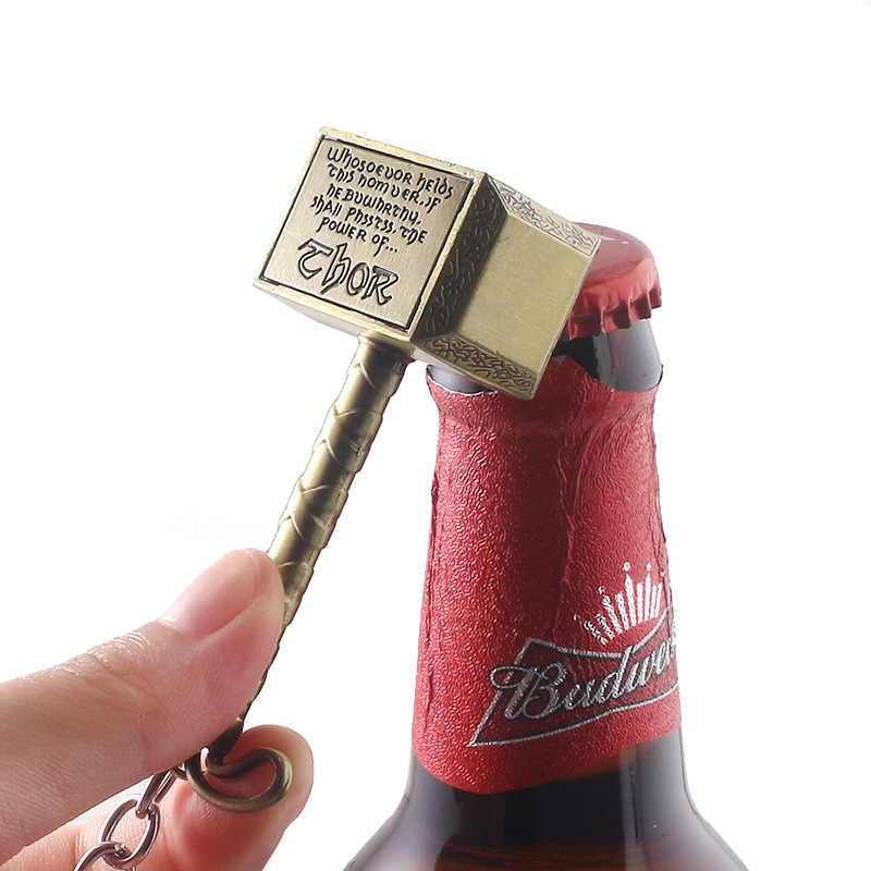 Thor Çekiç Bira şişe açacağı Metal Mjolnir Anahtarlık Erkekler Film Avengers Endgame Sökücü Aracı Bar Cosplay Takı llaveros