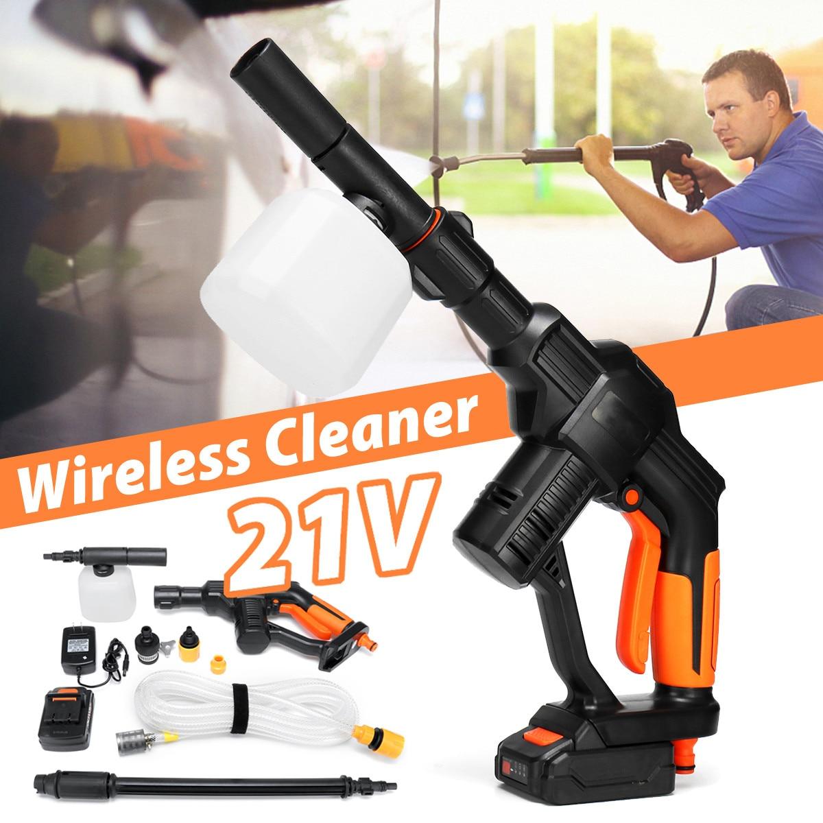 21V беспроводной очиститель высокого давления универсальный 1/4 фитинг беспроводной портативный моющий инструмент для автомойки