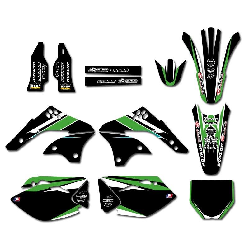 H2CNC 0235 チームグラフィック & 背景には、ステッカーキット KX450F KXF450 2006 2007 2008 KX 450F KXF 450  グループ上の 自動車 &バイク からの デカール &ステッカー の中 1