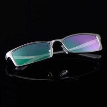 Homem de alumínio ampla face prescrição óculos aro completo armação óptica óculos de olho de negócios luz grande espetáculo mf gg