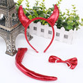 Halloween masquerade party supplies game show for children three-piece red devil horns three sets 60set/lot cosplay