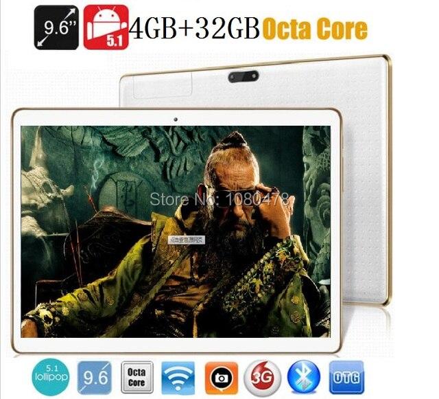 9.6 дюймов планшетный пк 4 Г LTE Окта ядро bluetooth wi-fi GPS 1280*800 5.0MP 4 ГБ 32 ГБ Android Phablet 5.1MID DHL Бесплатно доставка