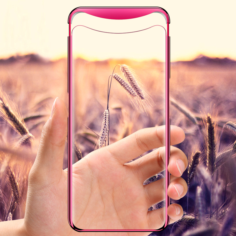 GKK Plating Case Oppo Find X Case Plating Transparent Magnetic Anti shock Hard PC Clear Thin Back Cover for Oppo Find X Coque in Fitted Cases from Cellphones Telecommunications