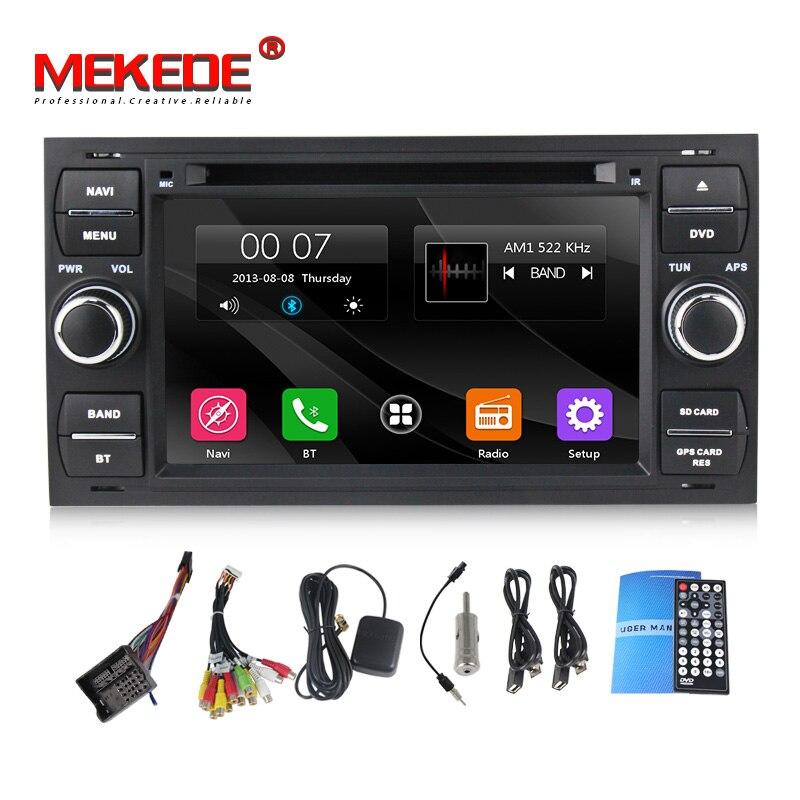 O envio gratuito de DVD Player Do Carro Para Ford/Mondeo/Focus/Trânsito/C-MAX Com Quad Core Wi-fi GPS rádio FM + free 8G mapa de navegação