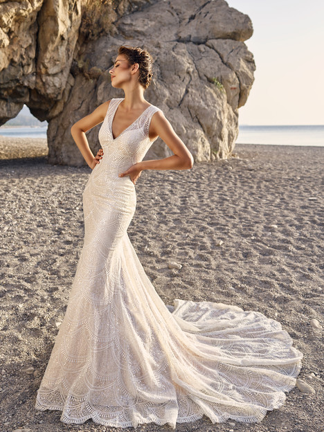 Eslieb V Neck Sexy Mermaid Wedding Dress Lace court Train wedding dresses 2019 vestido de Noiva