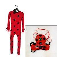Janvancy Ladybug Girls Lady Bug Kids 10 Ages Halloween Girls Clothing Sets Boys Miraculous Ladybug Clothes