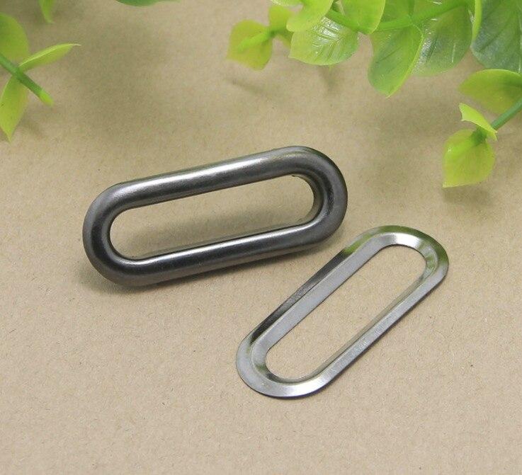 100 Stück Oval Metall Großhandel grau Nieten Ösen Kleider Bekleidung 6x15mm