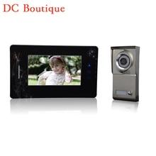 (1 Unidades) HD 600TVL Alambre uno a una versión de La Noche Videoportero cámara CMOS Lente de 7 pulgadas TFT-LCD de pantalla a color de RFID tarjeta de desbloqueo