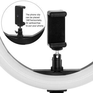 Image 5 - Capsaver 12 インチ LED リングライト Usb ランプポータブルフォトスタジオ環状ランプ調光対応 2700 18K/5500 18K youtube のメイクライト