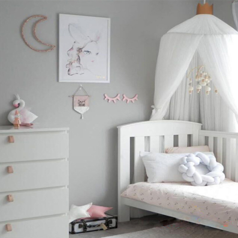 - Foldable Baby Bed Canopy Cot Crib Netting Kids Bedding Dome Crown