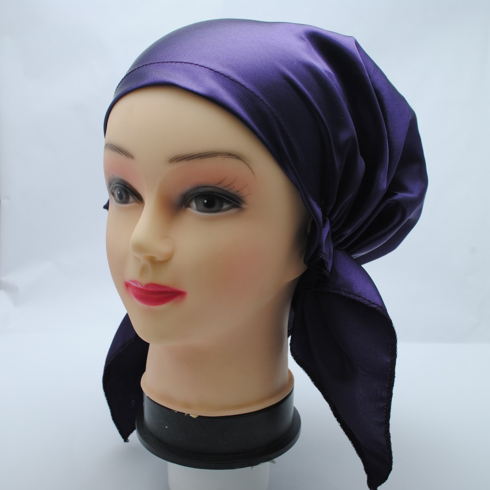 Aliexpress.com : Buy Fashion Silky Feeling 100% Polyester Satin Cap Night Sleep Cap Night Cap ...