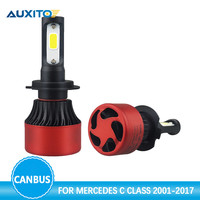 AUXITO H7 Canbus LED Car Headlight Bulbs 80W 16000LM Car Headlights For Mercedes C Class W203